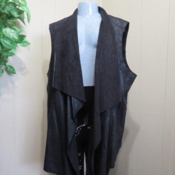 Dex fux leather Vest